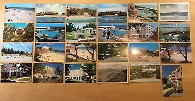 Lot of 24 Vintage Postcards ALL ELBOW BEACH SURF CLUB, PAGET PARISH, BERMUDA