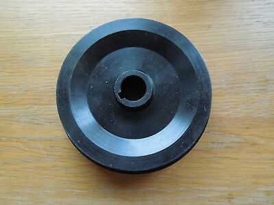 Steel 2 step V Vee Pulley 17mm bore 122mm dia. with keyway. Lathe Mill Drill.