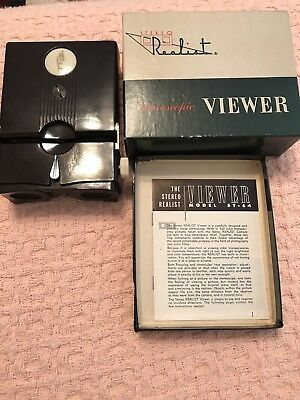 Vintage Realist Stereoscopic Viewer Viewmaster David White Co. ST 64