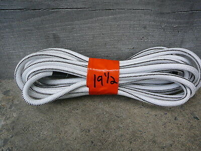 """White/Black Nylon Coated Rubber Rope Shock Cord 3/8"""" X 19.5' All-Purpose Bungee"""