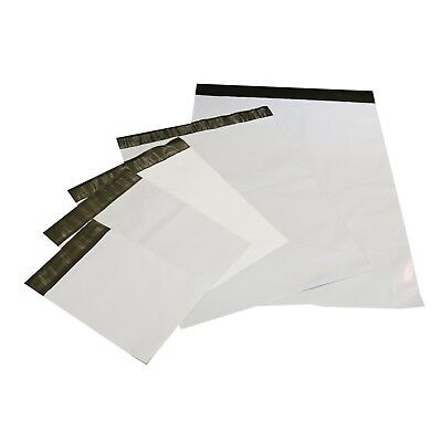 Pick Size, Quality & Quantity 1-5000 White Poly Mailers Shipping Bags Envelopes