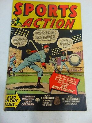 Sports Action #4 1950 Marvel Timely Baseball Boxing