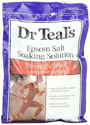 Dr Teal's Pure Epsom Salt Soaking Solution Rosemary and Mint,3 lbs