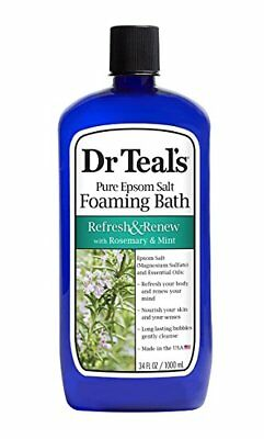 Dr. Teal's Refresh & Renew with Rosemary and Mint Foaming Bath, 34 oz