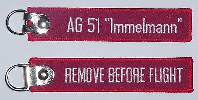 "Schlüsselanhänger AG 51 ""Immelmann"" - Remove Before Flight  ..........R1045"