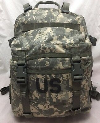 US Army Military Surplus Molle II Assault Pack Back Pack ACU Digital,W/pad,stiff