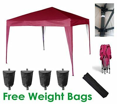 MCC home 3x3m Pop-up Gazebo Waterproof Outdoor Garden Marquee Canopy NS Red
