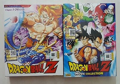 Anime DVD: Dragon Ball Z Complete Series (Vol. 1-291 End) + Movie Collection