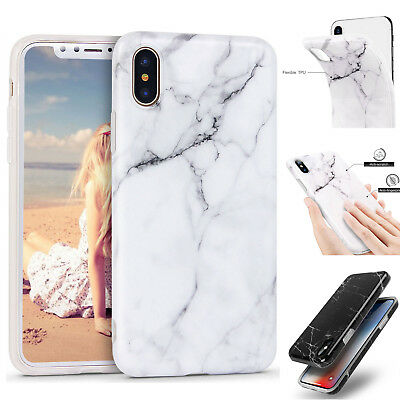 iPhone XS Max XR X 6s 7 8 Plus Case Marble Pattern Soft TPU Gel Shockproof Cover