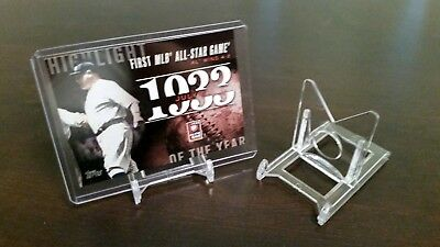 """*40 Adjustable BCW 2"""" Display Stands Sports Cards Coin Currency Geode"""