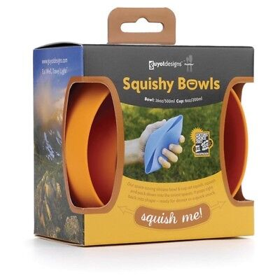 Collapsible Squishy Camping/Travel Bowl & Cup - 50% OFF RRP!