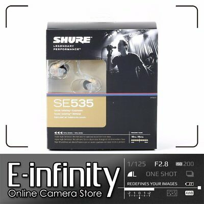 NEW Shure SE535 Sound Isolating In-Ear Stereo Headphones (Clear)