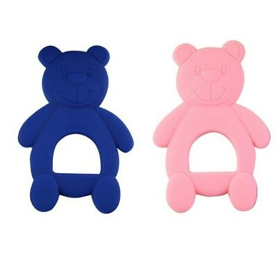 2Pc New Soft Baby Kids Infant Safe Silicone Utility Teethers Teeth Stick Toys