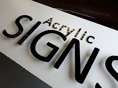 Acrylic letters, 3mm thick shop signs with locators & template ready to fit DIY
