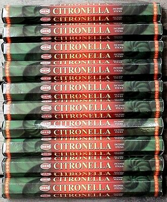20 60 200 Sticks HEM Citronella Hex Packs Insect Repellent Incense Bulk Insence