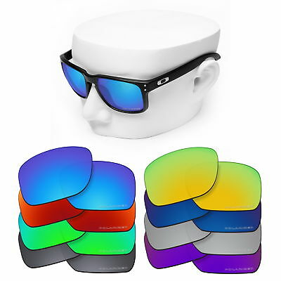 OOWLIT Replacement Lenses for-Oakley Holbrook Sunglasses Polarized Etched
