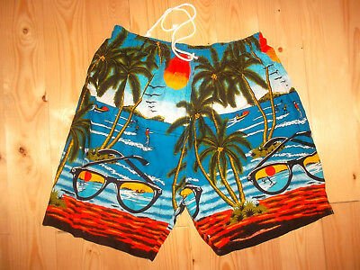 vintage 80`s hawaii shorts beach pants oldschool festivaloutfit 80s surf S/M