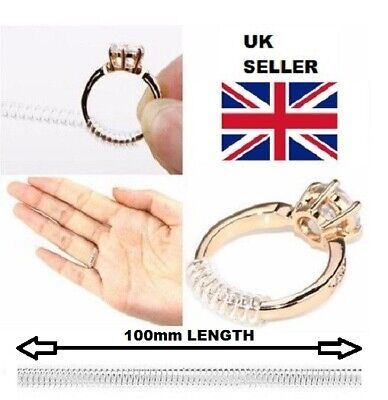 Wedding Engagement Ring Size Adjuster fix reducer Snuggies Snug - 100mm long -