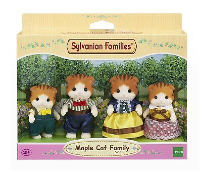 Sylvanian Families 5290 Maple Cat Family Figure Set