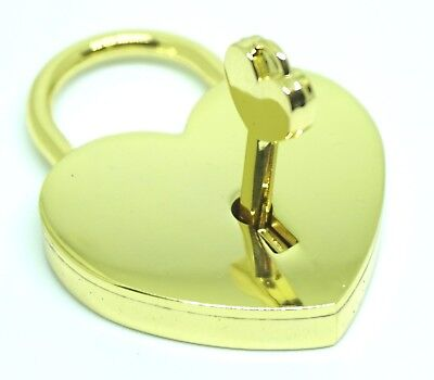 Personalised Engraved Heart Love Padlock  - mirror gold, silver, antique brass
