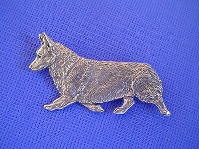 Pembroke Welsh Corgi Trotting Pin #56A pewter dog jewelry by Cindy A. Conter