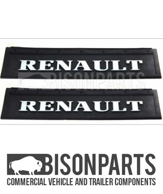 Mud Flaps / Mudflaps Lorry Truck RENAULT Pair 600 X 200MM BP83-191 x2