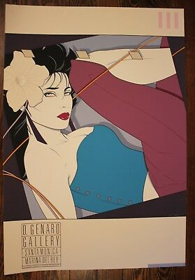 "PATRICK NAGEL LITHOGRAPH ""RIO"" ART EXPO MIRAGE EDITIONS 36x24"