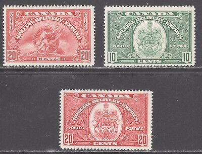 Canada Stamps #E6-E8  --  (3) Special Delivery -- 1935  --  Unused
