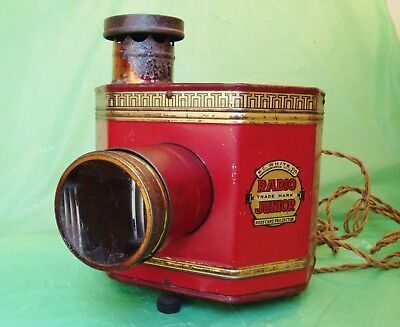 ANTIQUE RADIO JUNIOR POSTCARD PROJECTOR Lithographed Tin H.C. White Co. DISPLAY