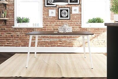 Rustic Dining Table Farm House Kitchen Vintage Dinette Wood Metal Farmhouse