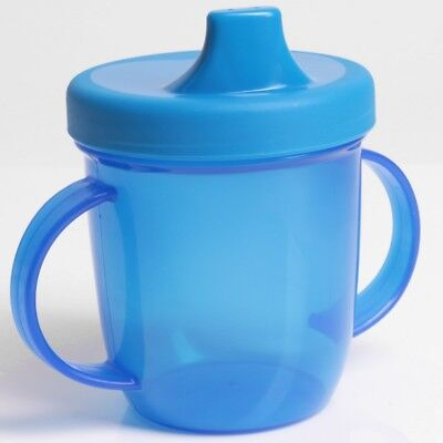 HANDLED BABY TRAINING CUP Childrens Sippy Weening Drinking Mug EASY SIP SPOUT