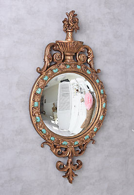 Decorative Mirror Convex Baroque Wall Antique Floor Vintage
