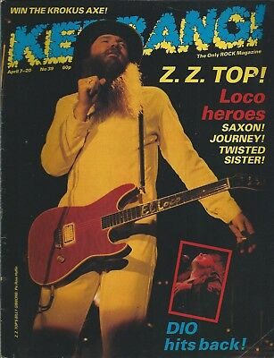 KERRANG! #39 APR 1983: ZZ TOP Twisted Sister DIO Journey SAZON Nightwing WASP