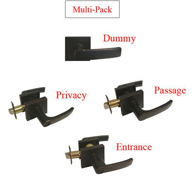 Multi-Pack Dark Oil Rubbed Bronze Door Square Dummy/Passage/Privacy Keyed Entry
