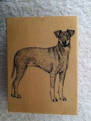 Manchester Terrier Dog Rubber Stamp for Scrapbooking  NEW