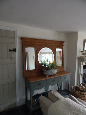 Large antique mirror / overmantle
