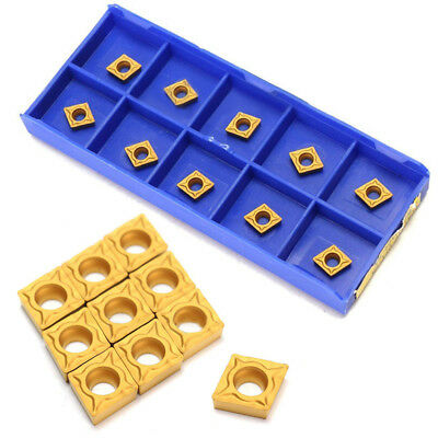 10Pcs CCMT060204-HM YBC251 Carbide Inserts Cutter For Lathe Turning Tool Holder
