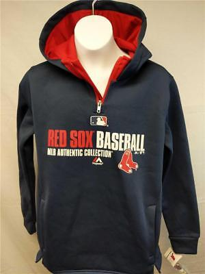 timeless design afc84 bece1 NEW BOSTON RED Sox YOUTH Sizes S-M-L-XL Navy Majestic Hoodie $45