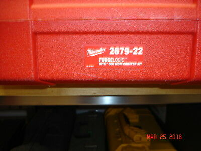 Milwaukee Copper Dies, carry case and charger for Crimper Set 2679-22 NO CRIMPER