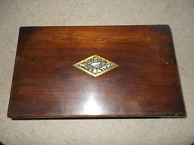 Vintage Wooden writing Slope Box Needs TLC