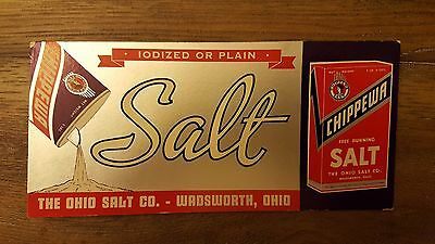 Vintage 1940s Chippewa Salt Ohio Salt Co Ink Blotter Advertising Collectable Art