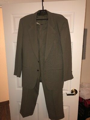 Valentino Uomo Men's Gray Suit Pinstripes 42LONG  34x32 Pls Read & See Pictures
