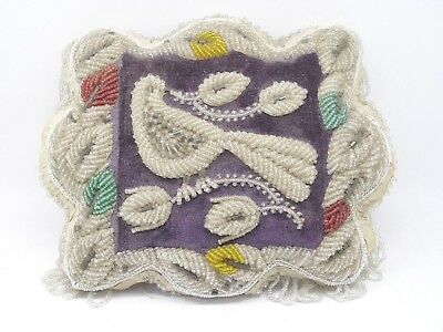 Iroquois Bird Beaded Pillow