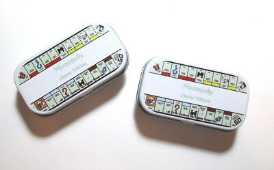 Lot of 2 MONOPOLY GAME Novelty Mint/Gum Tins ~ Hinged Lid ~ Pocket Sized Storage