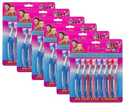 48 x INDULGE KIDS CHILDRENS EVERYDAY TOOTHBRUSHES - ALL NEW
