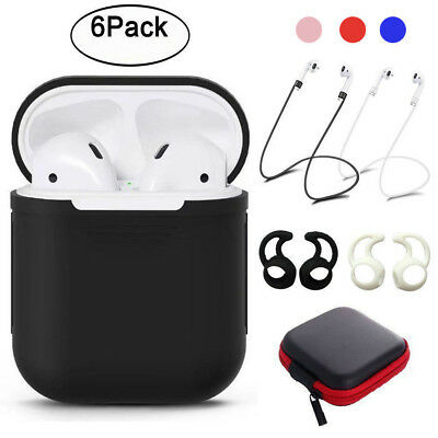 6 Pack Silicone Protective Cover Case Strap Ear Cover For Airpods Accessories