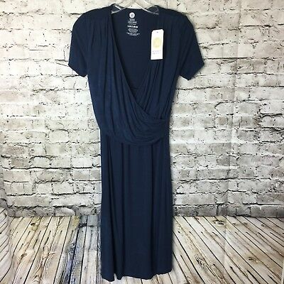 Kindred Bravely NWT Angelina Soft Nursing Maternity Nightgown Dress Navy Large