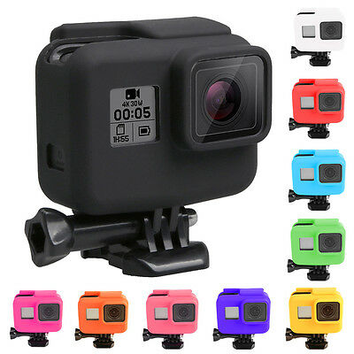 For Gopro Hero 5 Side Frame Soft Silicone Protective Housing Case Cover