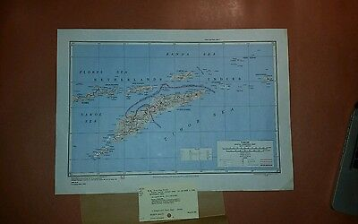 1943 (Printed 1955) US Army Special Strategic Map Timor AMS 9101
