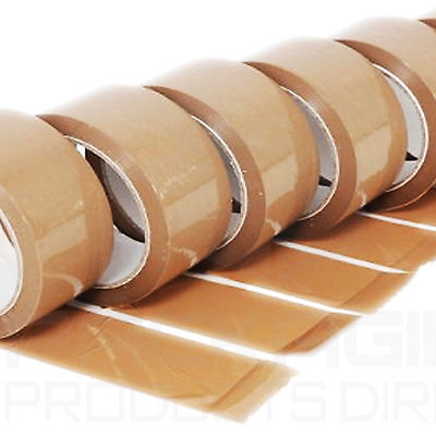 LOT DE 15 x  PACKING TAPE - RUBAN ADHESIVE D'EMBALLGE 66 M x 50 MM